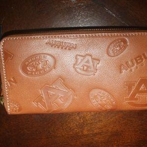 Jack Mason Tan Leather Auburn Tiger Clutch NWT $85